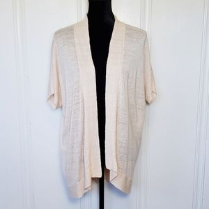 Eileen Fisher Short Sleeve Blush Pink Cardigan